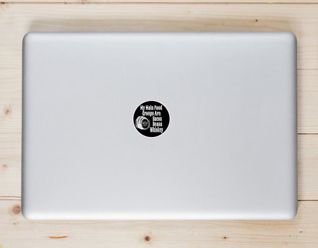 Bacon Beans & Whiskey Sticker Laptop Sticker