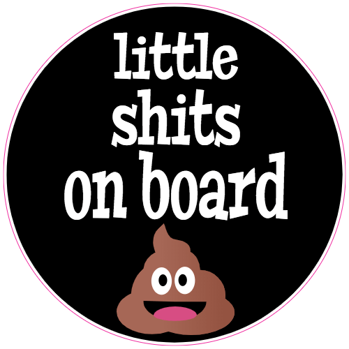 Little Shits On Board Sticker | U.S. Custom Stickers