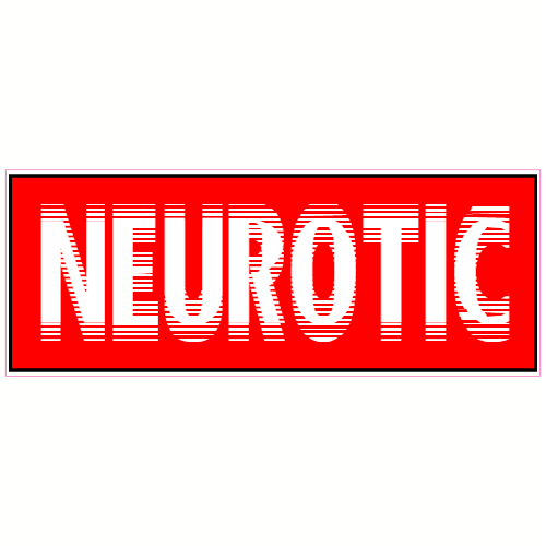 Neurotic Red Bumper Sticker | U.S. Custom Stickers