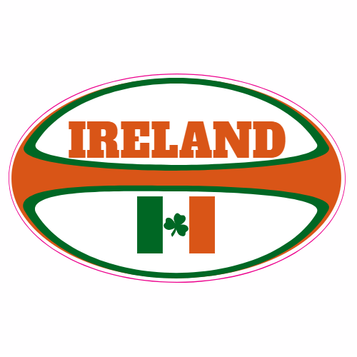 Ireland Rugby Ball Sticker | U.S. Custom Stickers