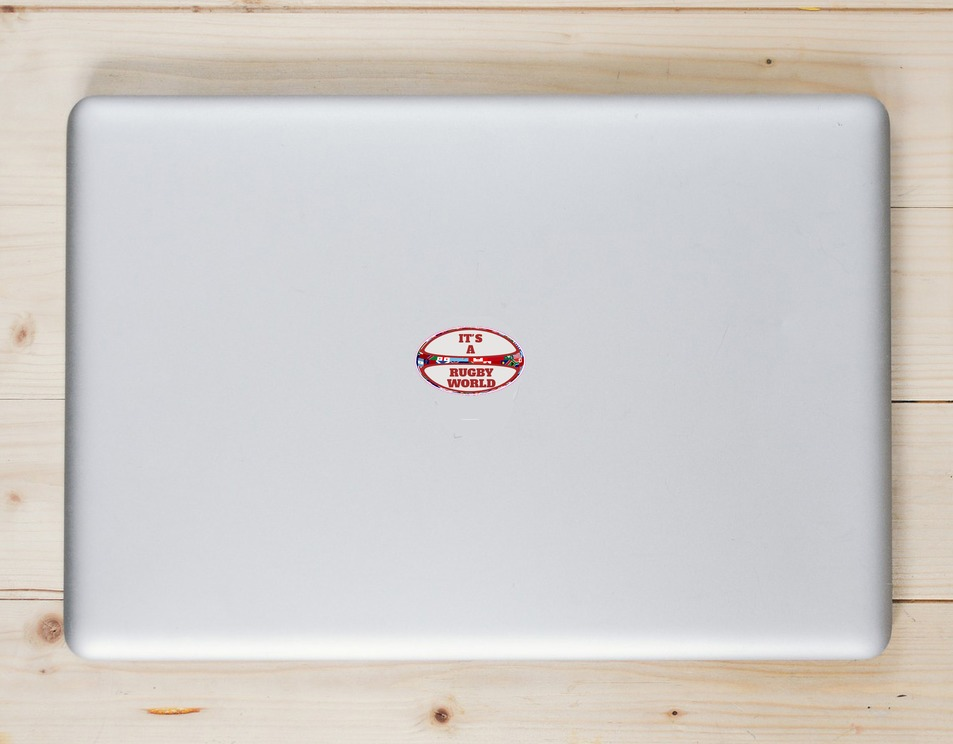 It Is A Rugby World Rugby Ball Sticker Laptop Sticker