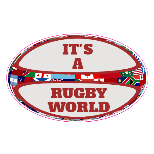 It Is A Rugby World Rugby Ball Sticker | U.S. Custom Stickers