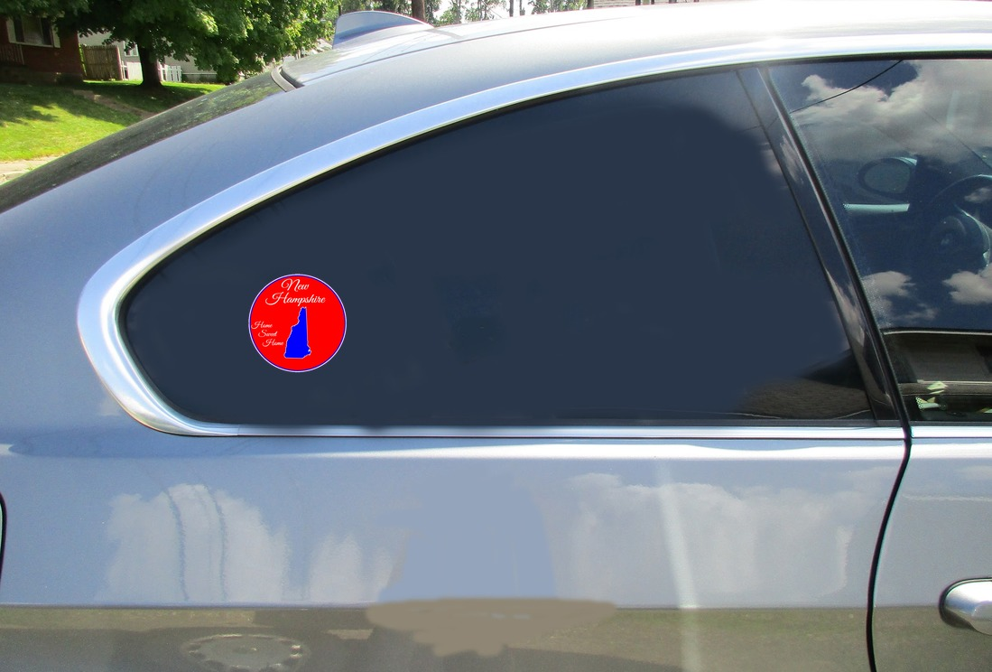 New Hampshire Home Sweet Home Circle Sticker Car Sticker