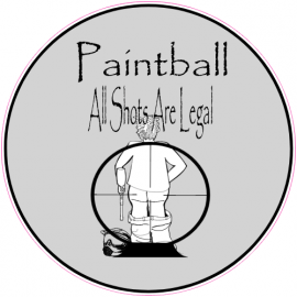 Paintball All Shots Are Legal Sticker   U.S. Custom Stickers