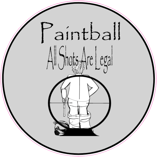 Paintball All Shots Are Legal Sticker | U.S. Custom Stickers