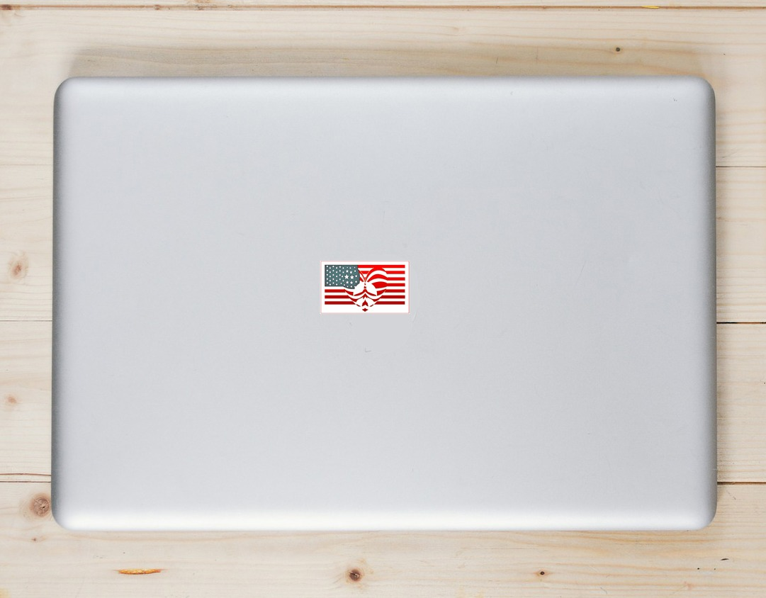 Peace Love Patriotism Laptop Sticker