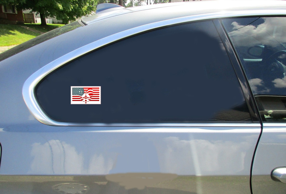 Peace Love Patriotism Car Sticker