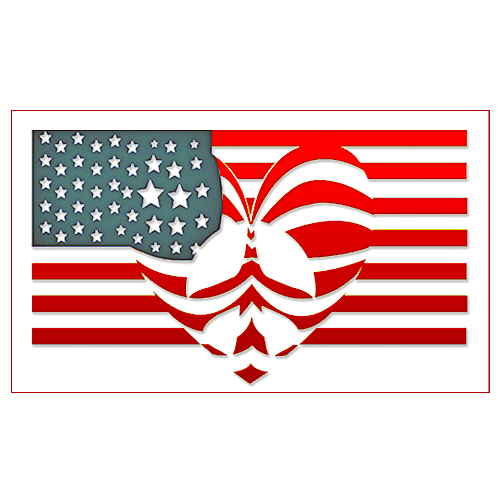 Peace Love Patriotism | U.S. Custom Stickers