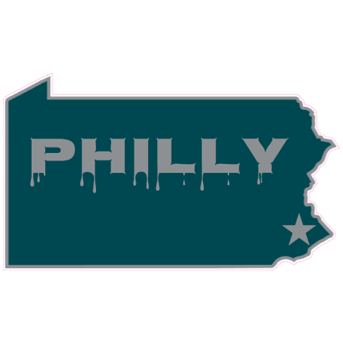 Philly Pennsylvania State Sticker | U.S. Custom Stickers