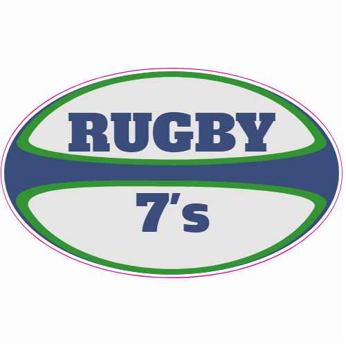 Rugby 7s Rugby Ball Sticker | U.S. Custom Stickers