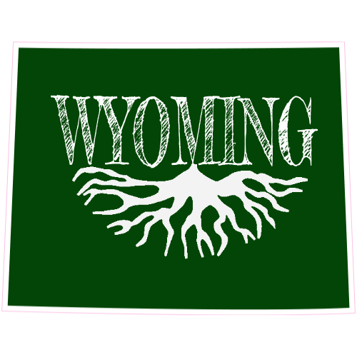 Wyoming Roots State Sticker | U.S. Custom Stickers