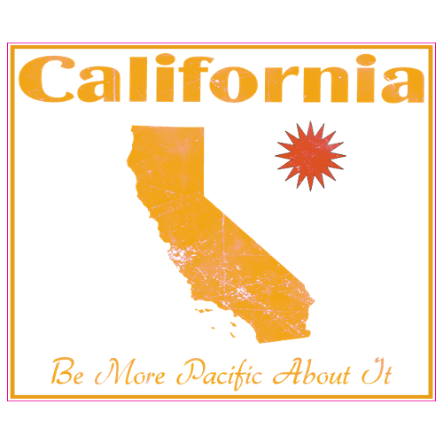California Be More Pacific About It Sticker | U.S. Custom Stickers