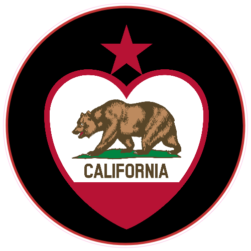 California Bear Love Sticker | U.S. Custom Stickers