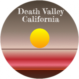 Death Valley California Circle Sticker | U.S. Custom Stickers