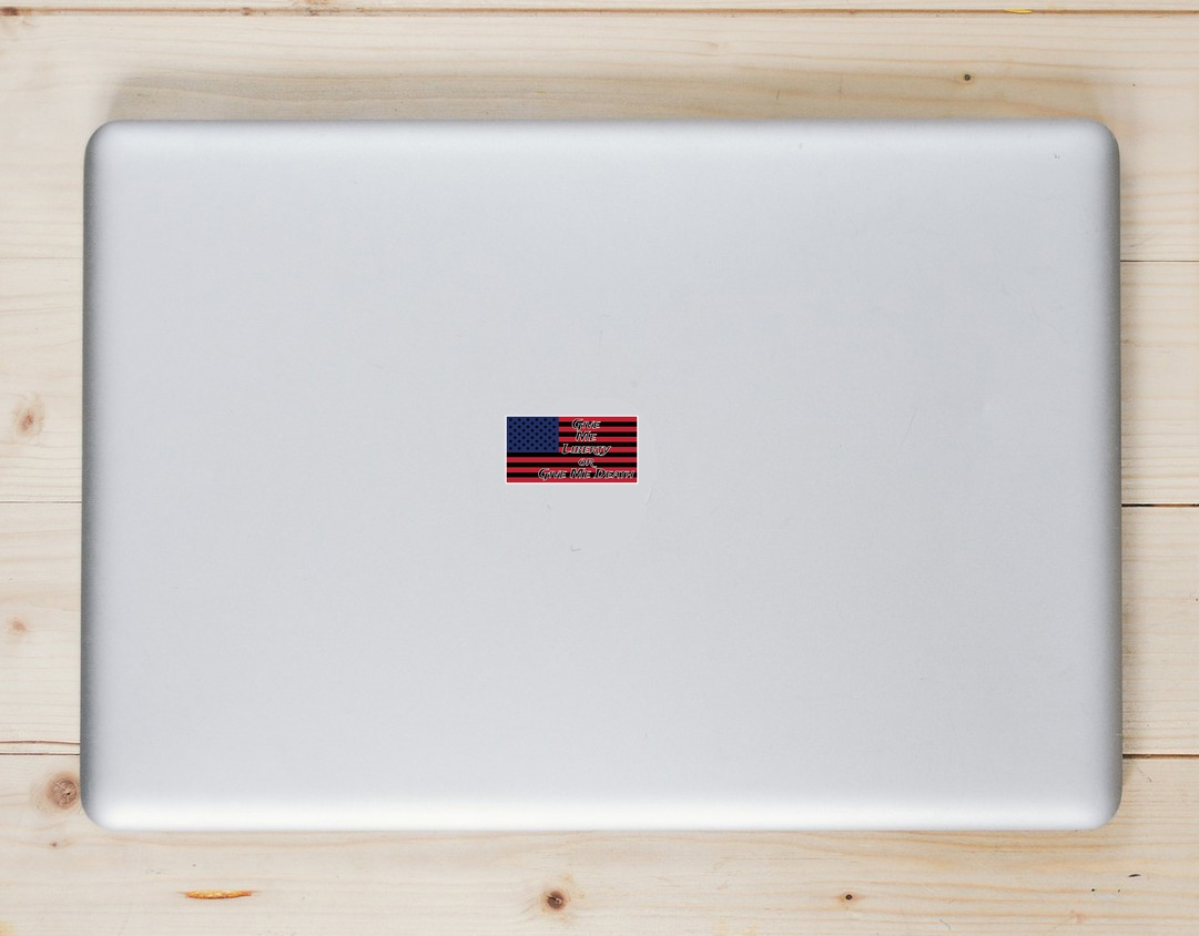 Give Me Liberty Or Give Me Death Flag Sticker Laptop Sticker