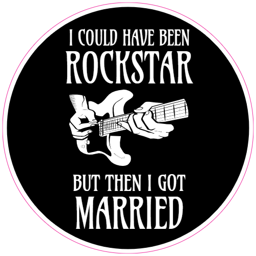 I Could Have Been A Rockstar Sticker | U.S. Custom Stickers