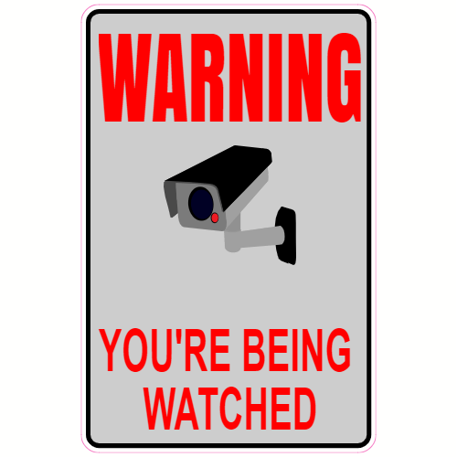 Warning You're Being Watched Camera Sticker | U.S. Custom Stickers