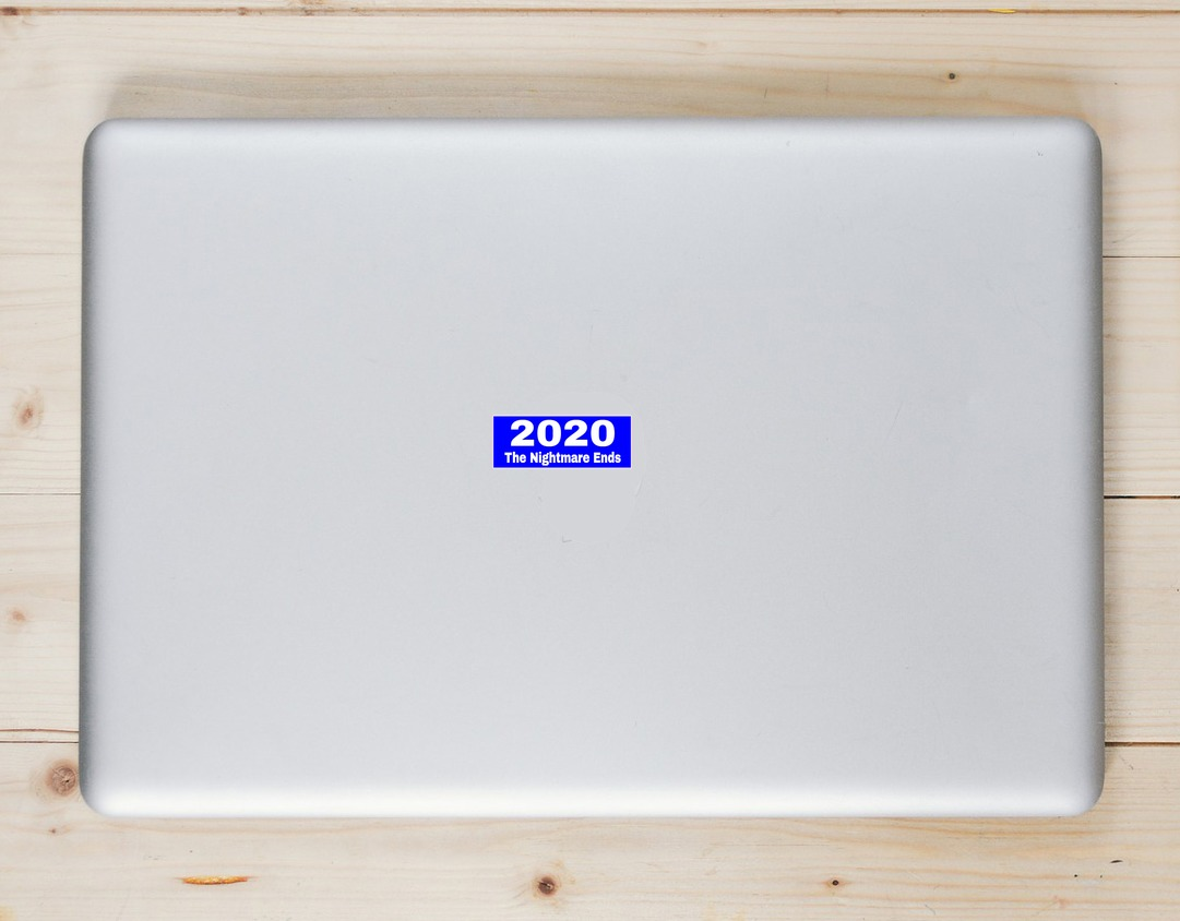 2020 The Nightmare Ends Blue Sticker Laptop Sticker
