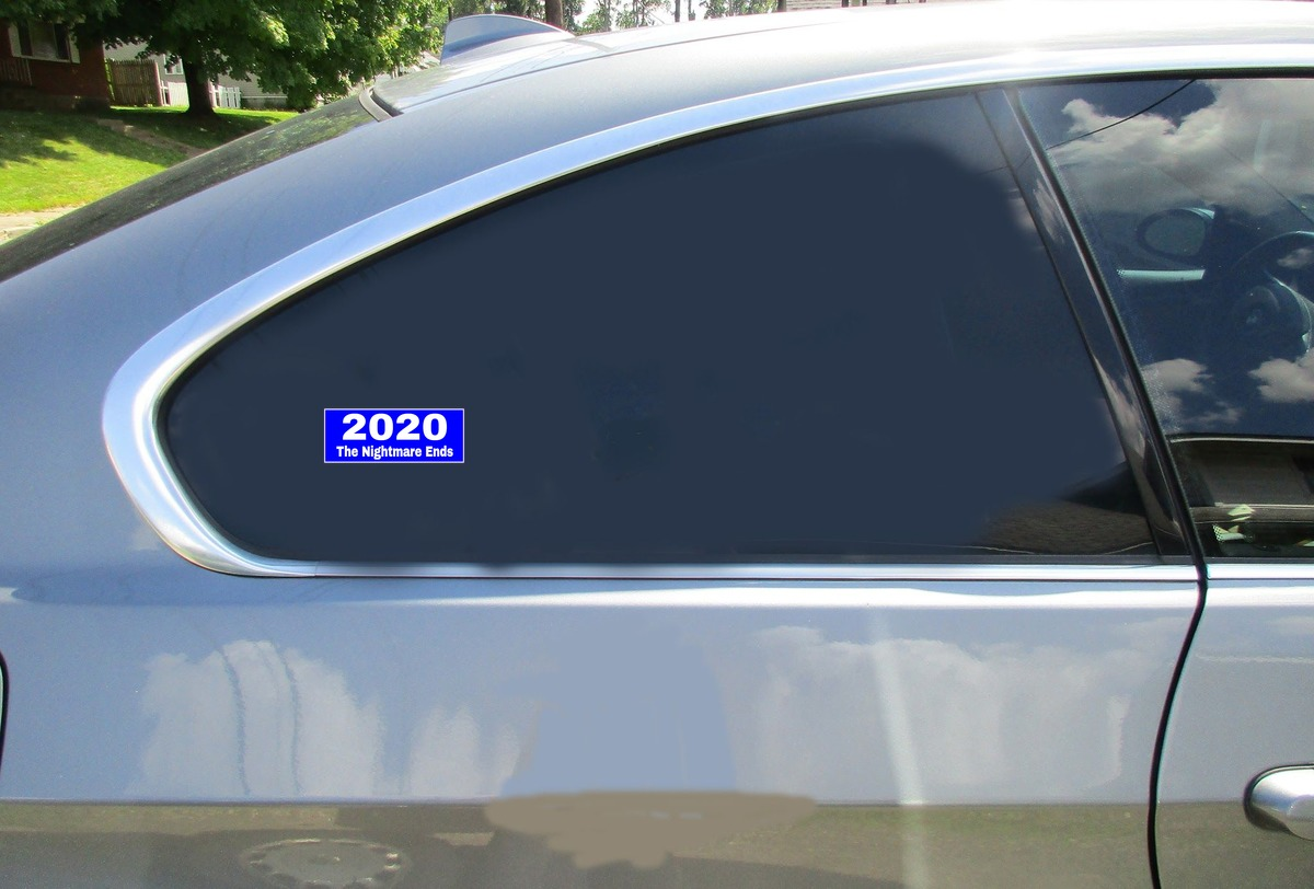 2020 The Nightmare Ends Blue Sticker Car Sticker