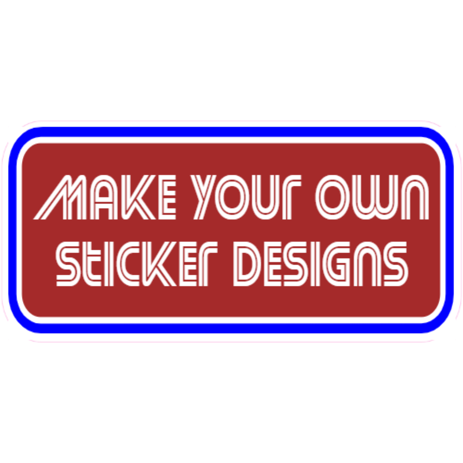 Make Your Own Rounded Rectangle Stickers FFFFFF Make Your Own Rectangle Stickers Rounded Cut