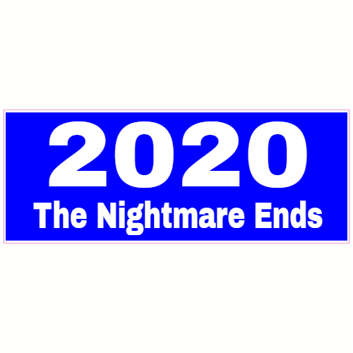2020 The Nightmare Ends Blue Sticker | U.S. Custom Stickers