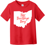 Big Buckeye Boy Toddler T Shirt Red Rabbit Skins Toddler Fine Jersey Tee RS3321
