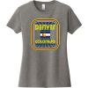 Denver Colorado Flag Retro T-Shirt For Women Gray Frost District Women's Very Important Tee DT6002