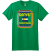 Denver Colorado Flag Retro T Shirt Kelly Green Hanes Nano 4980 Ringspun Cotton T Shirt