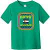 Denver Colorado Flag Retro Toddler T Shirt Kelly Rabbit Skins Toddler Fine Jersey Tee RS3321