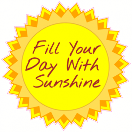 Fill Your Day With Sunshine Sun Sticker | U.S. Custom Stickers
