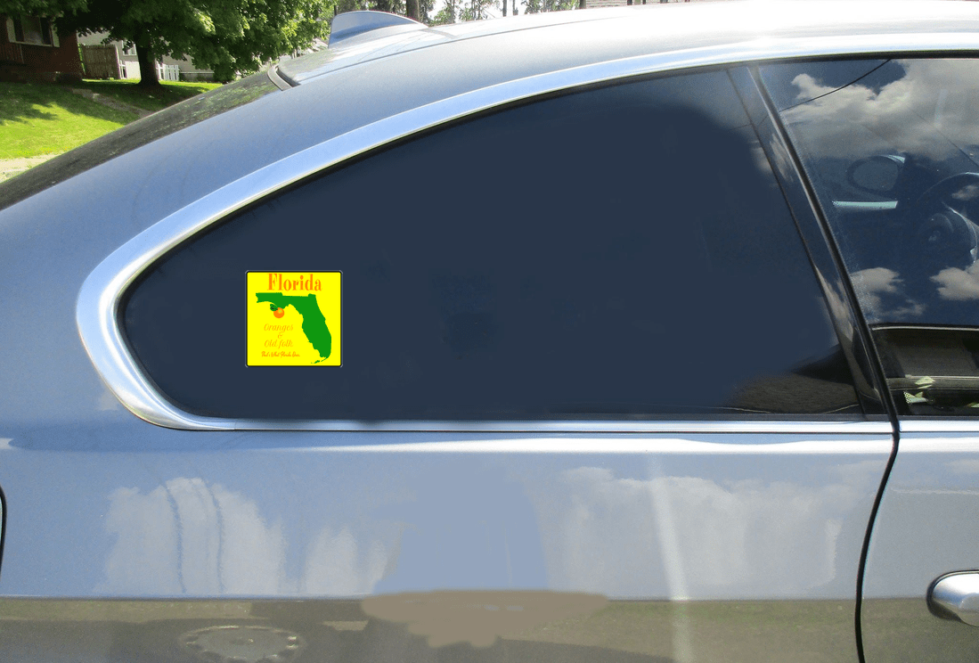Florida Orange State Sticker Car Sticker