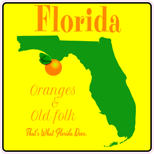 Florida Orange State Sticker | U.S. Custom Stickers