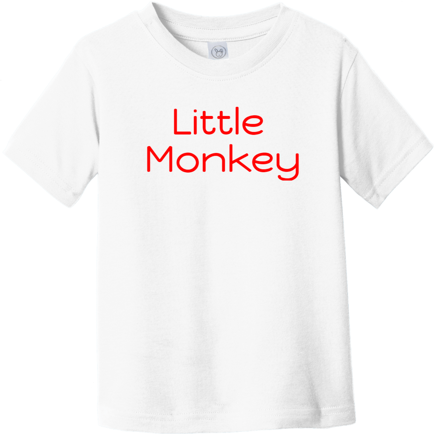 Little Monkey Toddler T-Shirt White Rabbit Skins Toddler Fine Jersey Tee RS3321