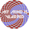 My Mind Is Warped Psychedelic Circle Sticker FFFFFF Make Your Own Circle Decal