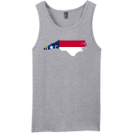 North Carolina State Flag Tank Top For Men Heather Grey District Concert Tank Top DT5300