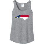 North Carolina State Flag Tank Top For Women Athletic Heather Port And Company Ladies Tank Top
