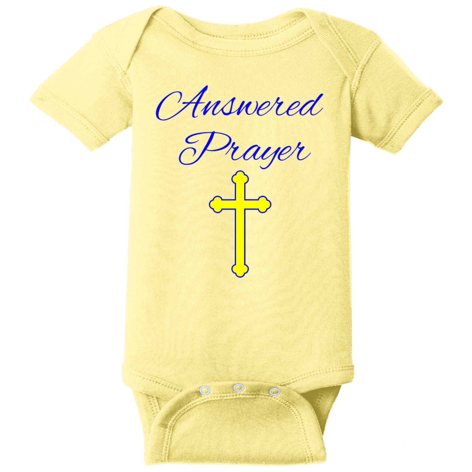 Prayer Answered Infant Onsie Banana Rabbit Skins Infant Short Sleeve Infant Rib Bodysuit RS4400