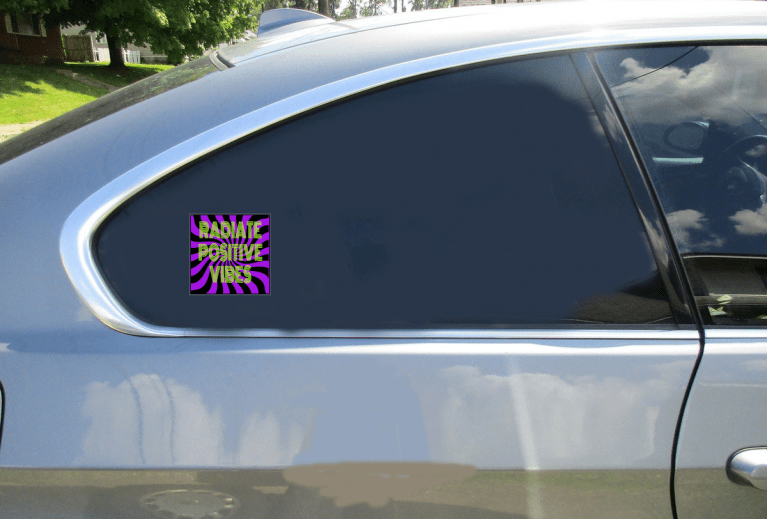 Radiate Positive Vibes Sticker Car Sticker