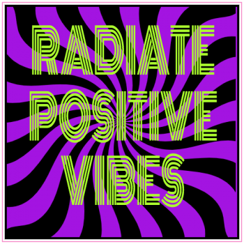 Radiate Positive Vibes Sticker | U.S. Custom Stickers