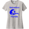 Sebastian Florida Surfing T Shirt For Women Light Heather Gray District Women's Very Important Tee DT6002