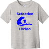 Sebastian Florida Surfing Toddler T Shirt Heather Rabbit Skins Toddler Fine Jersey Tee RS3321