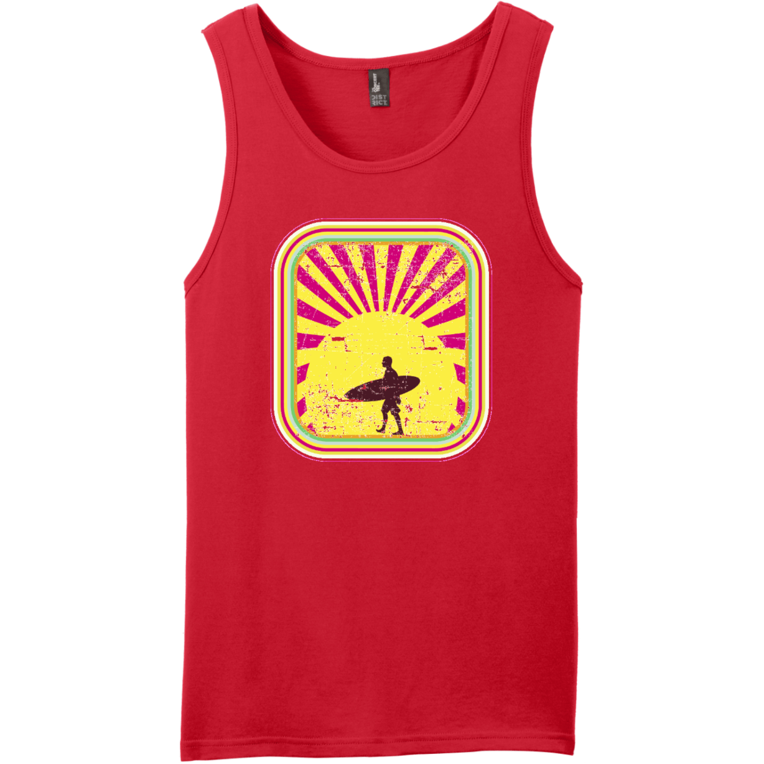 Surfer In The Retro Sunset Tank Top New Red District Concert Tank Top DT5300