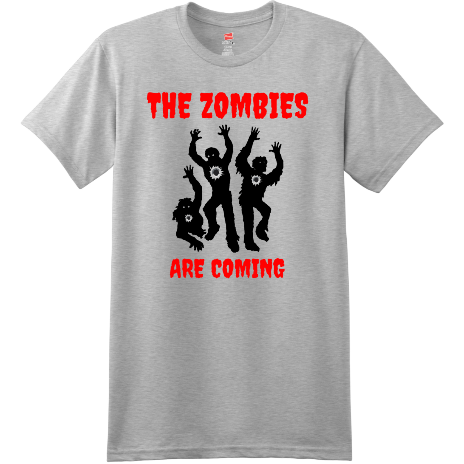 The Zombies Are Coming T Shirt Ash Hanes Nano 4980 Ringspun Cotton T Shirt