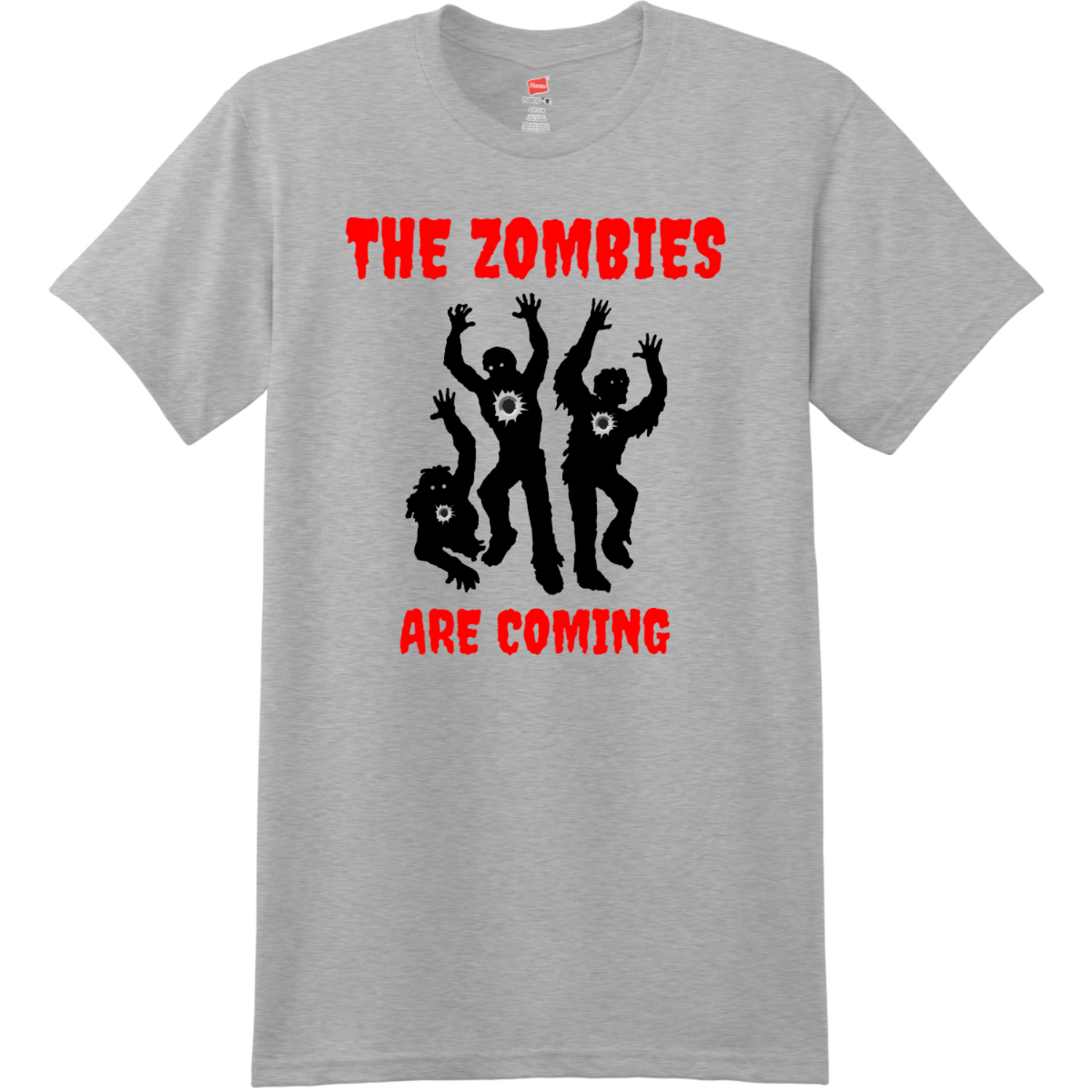 The Zombies Are Coming T Shirt Light Steel Hanes Nano 4980 Ringspun Cotton T Shirt