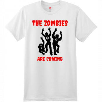 The Zombies Are Coming T Shirt White Hanes Nano 4980 Ringspun Cotton T Shirt