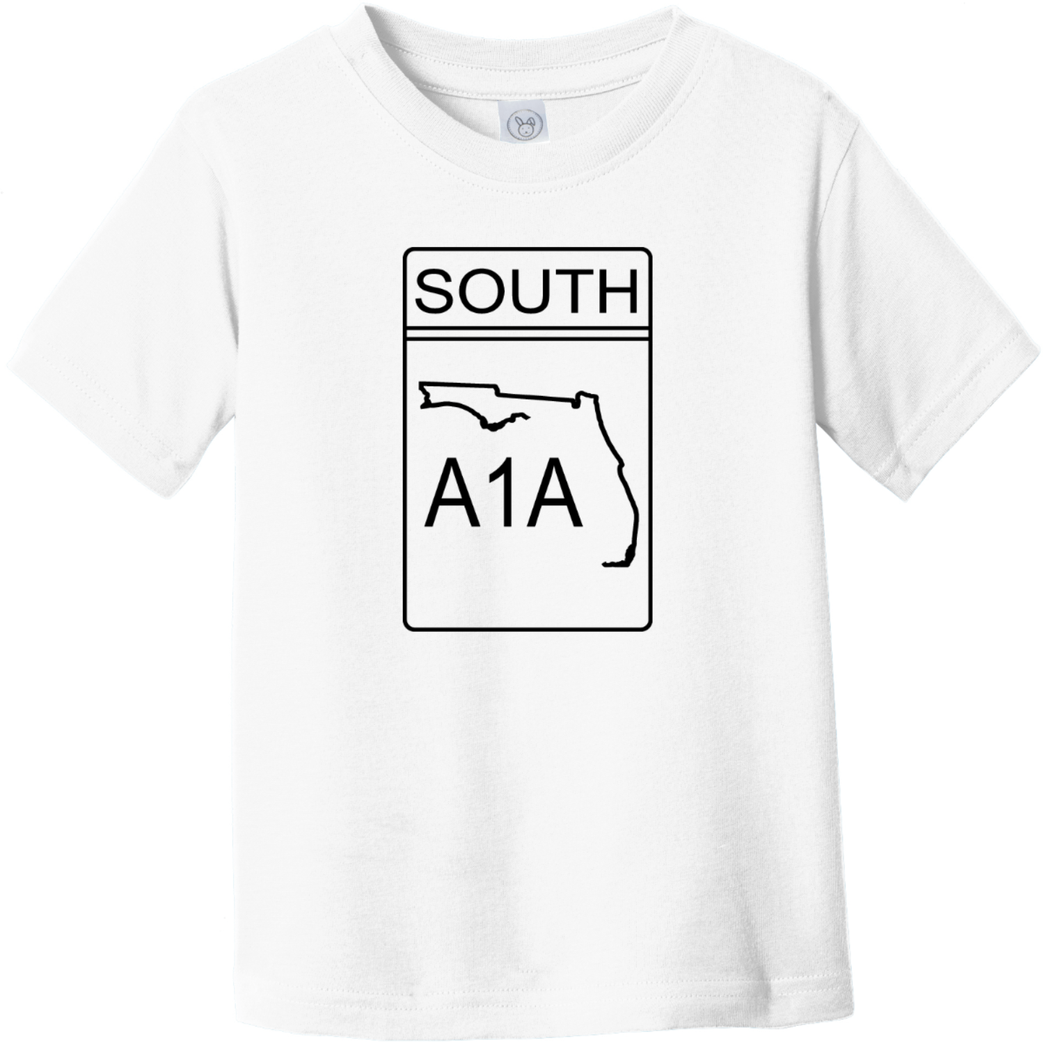 A1A South Road Sign Toddler T-Shirt White Rabbit Skins Toddler Fine Jersey Tee RS3321