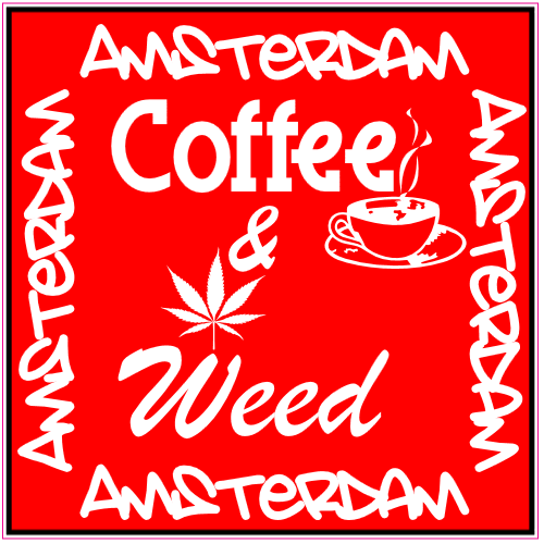 Amsterdam Coffee And Weed Sticker | U.S. Custom Stickers