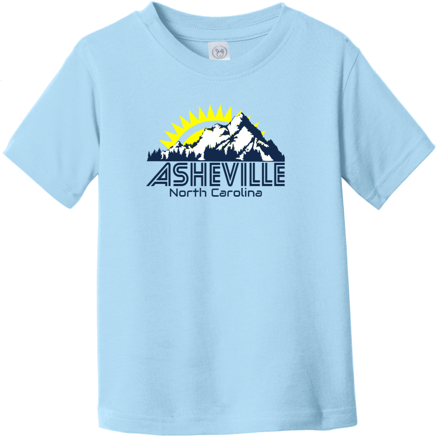 Asheville North Carolina Mountains Toddler T Shirt Light Blue Rabbit Skins Toddler Fine Jersey Tee RS3321