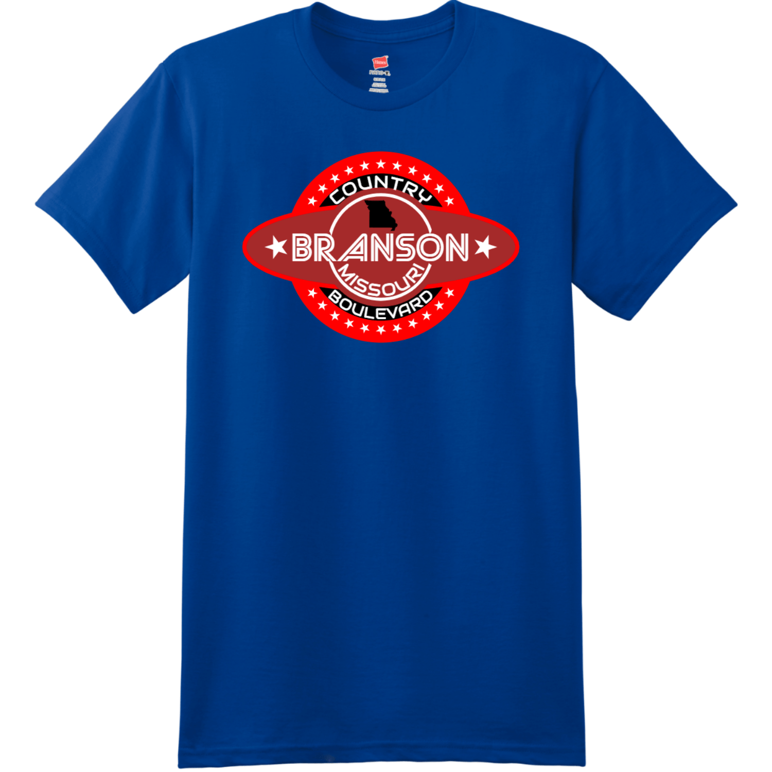 Branson Missouri Country Boulevard T Shirt Deep Royal Hanes Nano 4980 Ringspun Cotton T Shirt