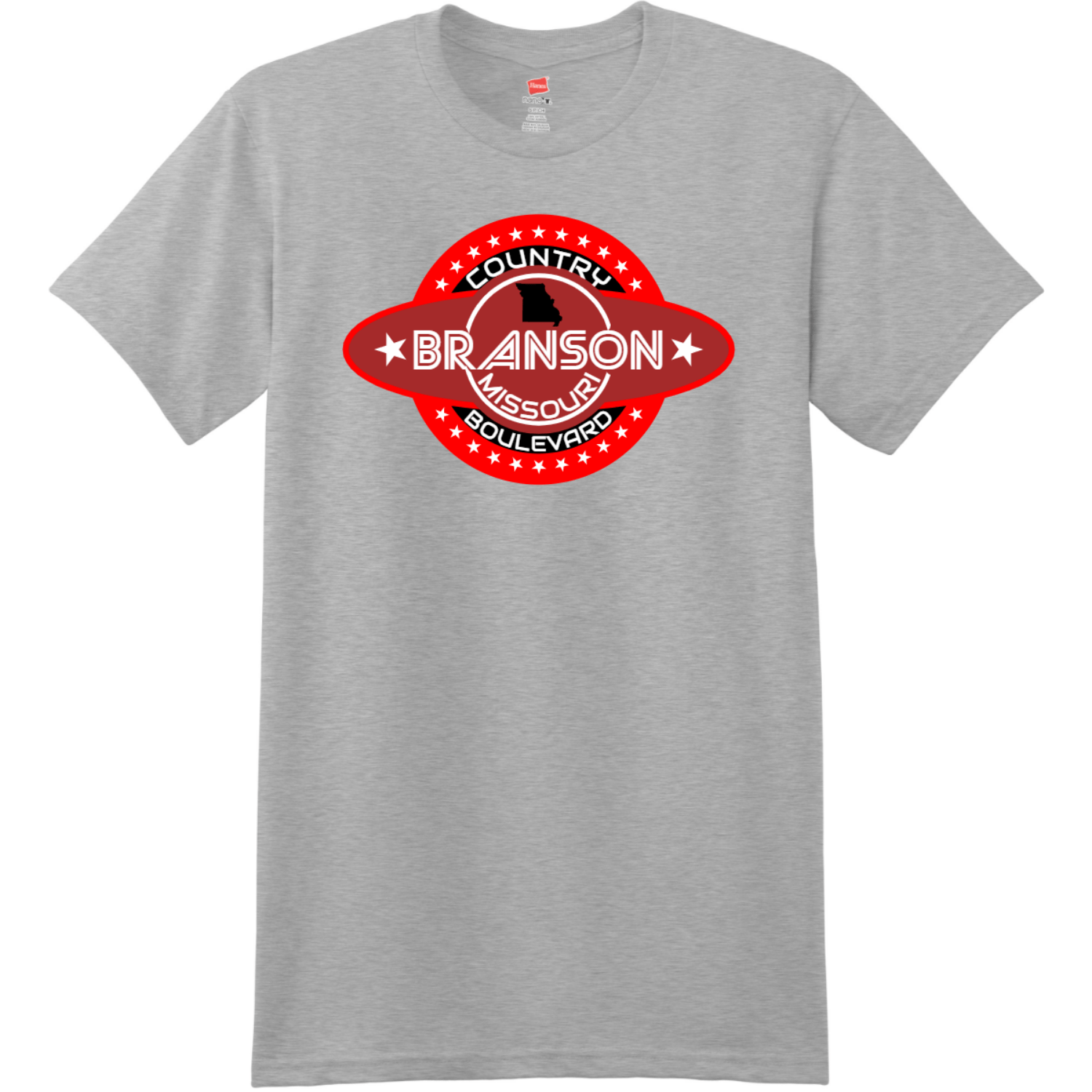 Branson Missouri Country Boulevard T Shirt Light Steel Hanes Nano 4980 Ringspun Cotton T Shirt
